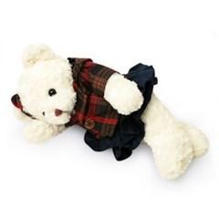 신체크후드 테디베어여자곰(중형화이트)