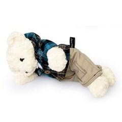 신체크후드 테디베어남자곰(중형화이트)