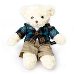 신체크후드 테디베어남자곰(소형화이트)
