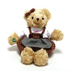 체크테디베어녹음인형브라운(여자곰)