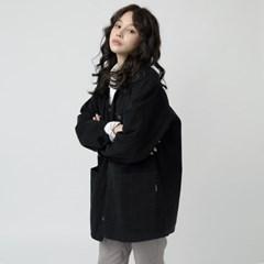 W_헌터 5302-노카라 사파리(블랙)_오버핏 자켓