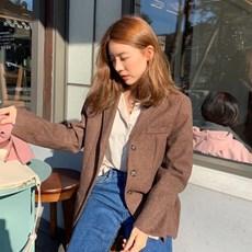 [프롬비기닝]Tailor herringbone single jacket_M (울 50%)