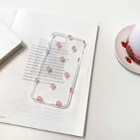 딸기 투명 젤리케이스