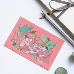 뚜주르누보 코랄인네이쳐 일러스트 엽서 카드