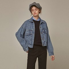 CROP OVER DENIM JACKET_DENIM