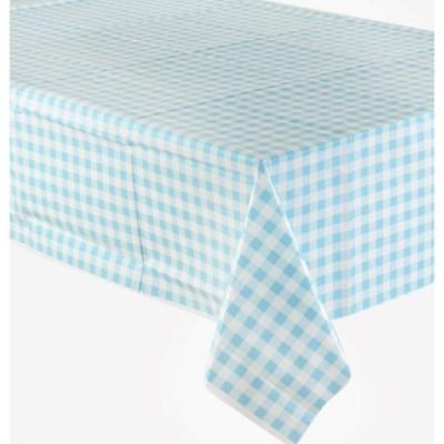 비닐 테이블보 [체크 블루]_(11630021)