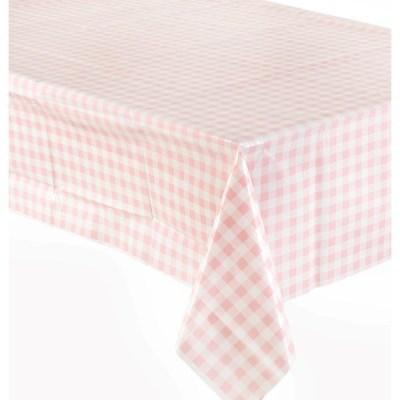 비닐 테이블보 [체크 핑크]_(11630019)