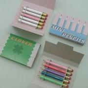 메시지 미니연필 세트(연필선택가능)