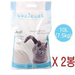 코시캣 고양이 화장실 모래 10LX2포 15kg