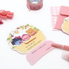카카오프렌즈 리틀프렌즈 미니 카드 스티커 세트_(3948045)