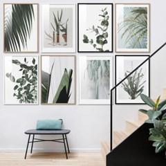 초록식물 나뭇잎 22종 북유럽 보태니컬아트 포스터 인테리어액자