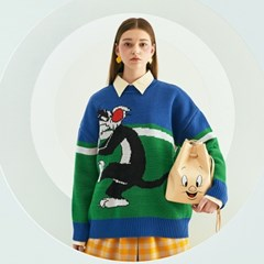 [SS19 STEREO X LOONEY TUNES] Sylvester Knit(Blue)_(666084)