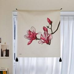 수채화 꽃 패브릭 포스터 / 가리개커튼