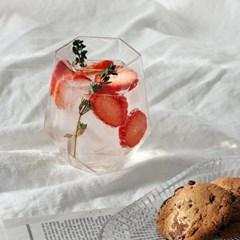 Fleur 육각 카페글라스 450ml (16) 1P
