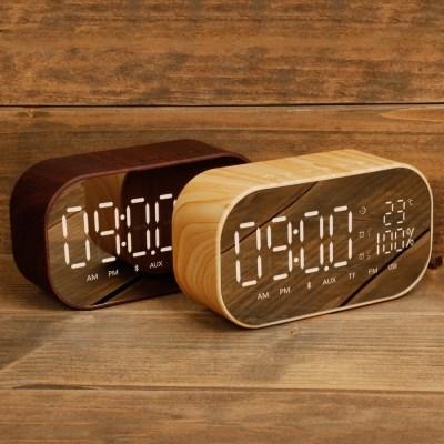 우드 시계 라디오 블루투스 스피커 SNP-W8