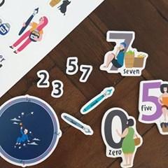 꼬메모이 쥬에 숫자/자석 교구 퍼즐 칠판 유아