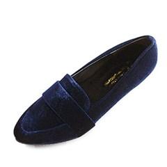 kami et muse Fine velvet low heel pumps_KM19s004