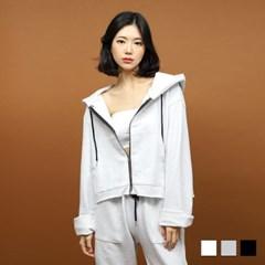 1105 웨이 후드 크롭 점퍼 (3colors)