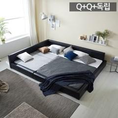 모던라운지 퀸+퀸 패밀리 침대+독립매트리스_(11513583)