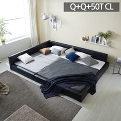 모던라운지 퀸+퀸 패밀리 침대+50T캐미컬라텍스매트리스_(11513582)