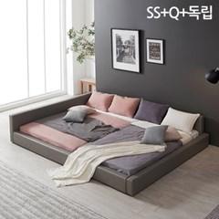 모던라운지 슈퍼싱글+퀸 패밀리 침대+독립매트리스_(11513579)