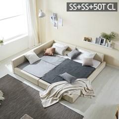 모던라운지 슈퍼싱글+슈퍼싱글 패밀리 침대+50T캐미컬라_(11513572)