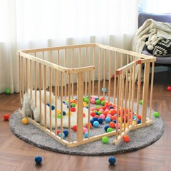 라라 베이비룸 원목 아기울타리 아기안전펜스