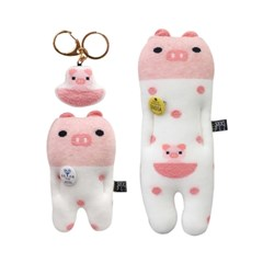 DIY 양말 한 켤레로 3가지 돼지 양말인형 만들기 (키트)