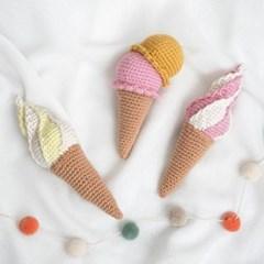 아이스크림 딸랑이 - 코바늘 키트