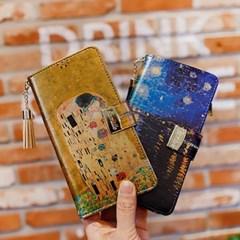 갤럭시A6 2018 (A600) Encanto-Obra-T 지퍼 지갑 다이어리 케이스