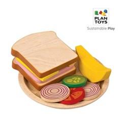 플랜토이즈 원목교구 주방놀이 샌드위치 만들기 3464_(1560854)