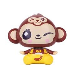 맨켓 자동차 미니 노호혼 흔들이 장식 인형 원숭이
