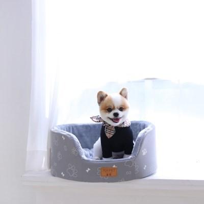 모노 베드 - 타원형 / 그레이