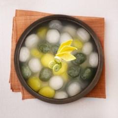[행복담은식탁] 국내산 쑥 호박으로 빛깔 낸 삼색감자옹심이 1kg
