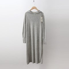 Hoega Wool Cashmere Hood Long Dress