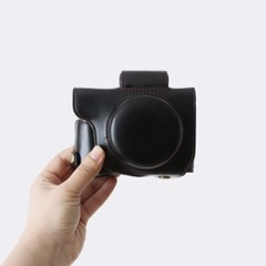 캐논 Canon G1X MARK3 케이스 가방 파우치 넥스트랩 세트 블랙