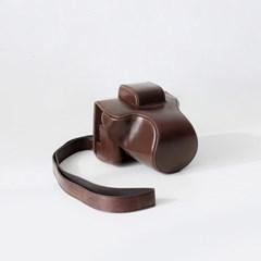캐논 Canon EOS M5 / M50 카메라 케이스 가방 파우치 넥스트랩 초코