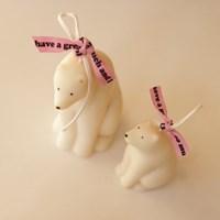 북극곰 캔들 (엄마곰/아기곰)