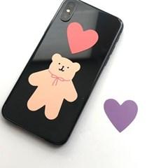 heart teddy bear sticker