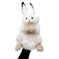 7156-토끼흰색 퍼펫인형(손인형) 34cm.H_(1279303)