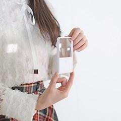 휴대용 카드타입 비구면렌즈 LED독서등 돋보기 확대경_(971682)