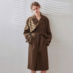 LOOSE DOUBLE TRENCH COAT_KHAKI