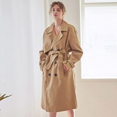 LOOSE DOUBLE TRENCH COAT_BEIGE