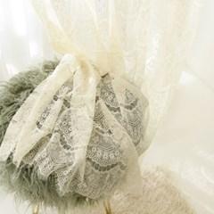 드레스 레이스 커튼 -바닐라크림