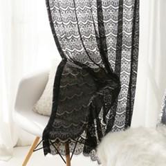 드레스 레이스 커튼 -블랙