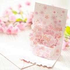 디원 2단입체 벚꽃카드 (YD28)