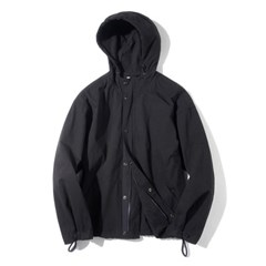 Hood Zip-up Jacket Black