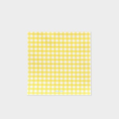 GINGHAM MEMO PAD - Lemon