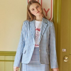DE GINGHAM CHECK JACKET(LIGHT BLUE)_(3962369)