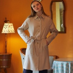 DE SINGLE TRENCH COAT(IVORY)_(3962142)